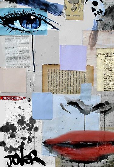 fragments by Loui  Jover. PAINTINGS DONE OVER FRAGMENTS OF FOUND MATERIAL