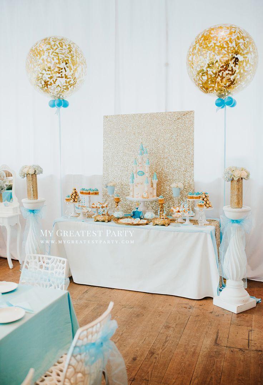 Princess, Light Blue & Gold, Kids Party, Birthday, Party