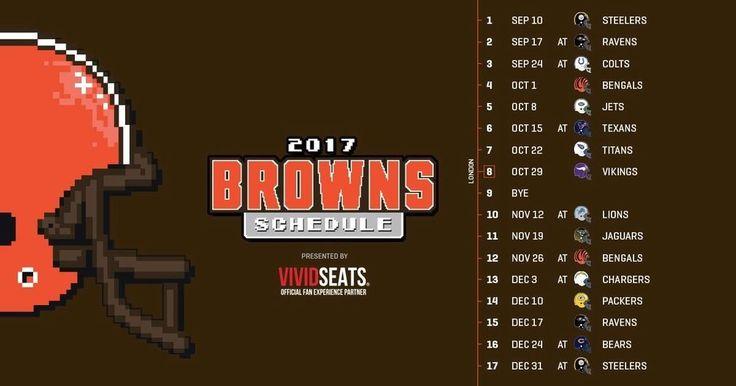 2017-18 CLEVELAND BROWNS NFL FOOTBALL SCHEDULE SEASON FRIDGE MAGNET (LARGE 4X5)