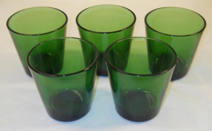 Kartio Olive Green Glasses 22cl 7oz