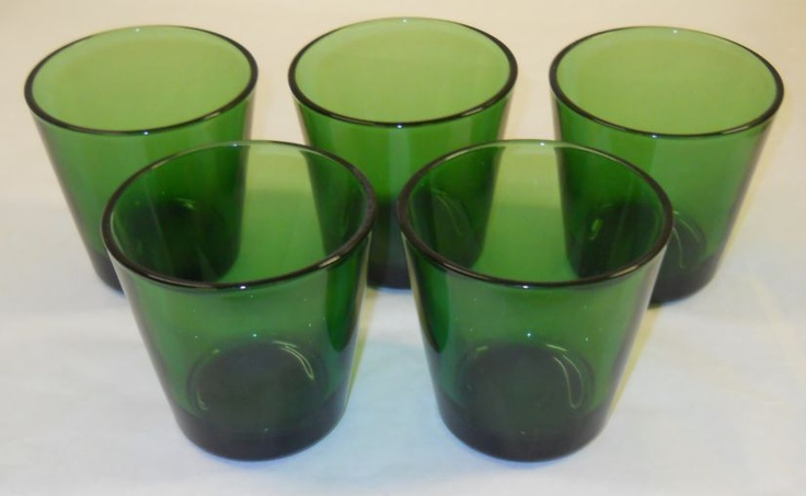 Kartio Olive Green Glasses 22cl 7oz