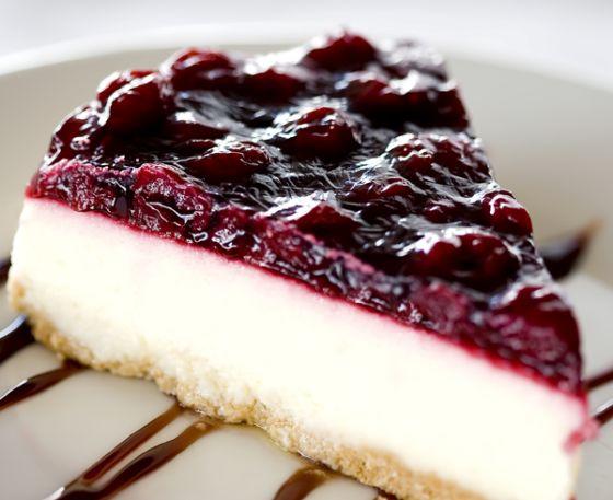 Gostosona: torta de ricota com amora