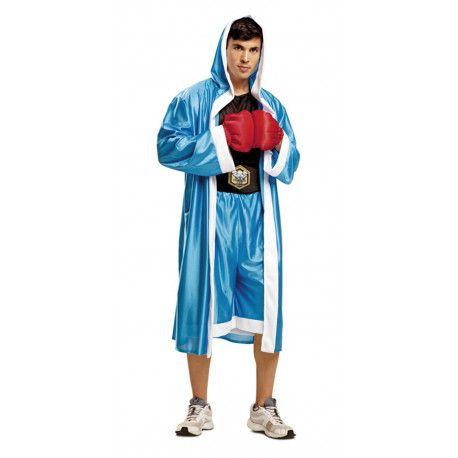Disfraz de Boxeador Azul para Hombre #Disfraces #Adulto