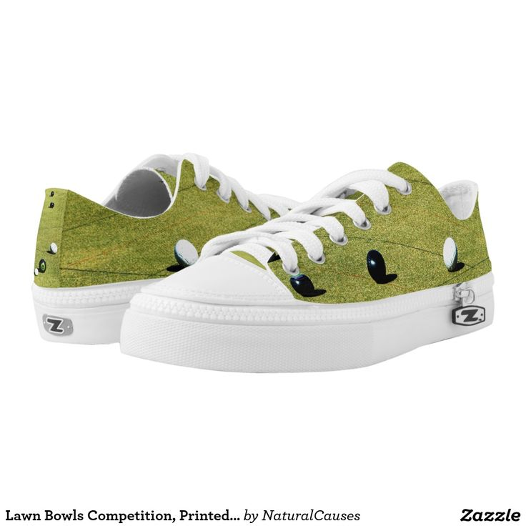 #lawnbowls Competition Game In Progress, Unisex Printed Zipz #sneakers.