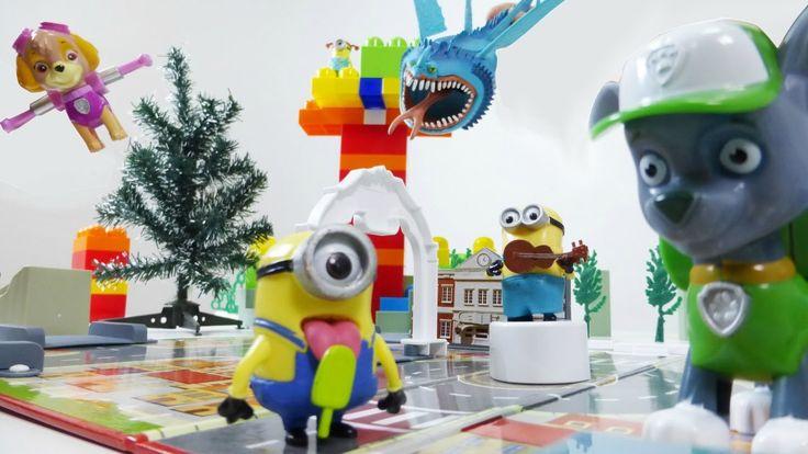 PAW PATROL Spielzeuge: Die Rettung von MINIONS. Video für Kinder - Deutsch