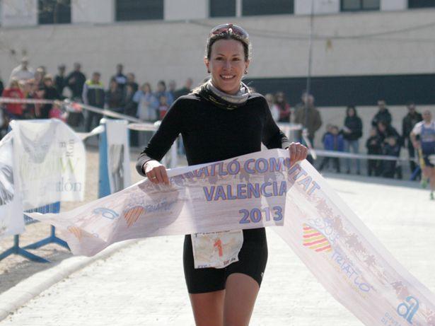 Radka Vodickova, ganadora femenina del Duatlon de Banyeres de Mariola 2013