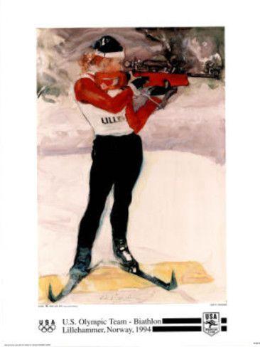 U.S. Olympic Team Biathlon Lillehammer, c.1994 Prints by Dian R. Friedman at AllPosters.com
