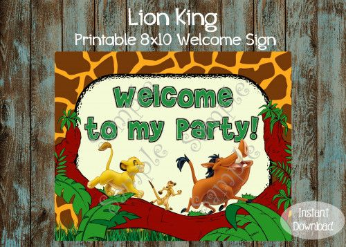 9 best lion king treats images on pinterest birthdays cookies lion king birthday party package lion king birthday party supplies bookmarktalkfo Images