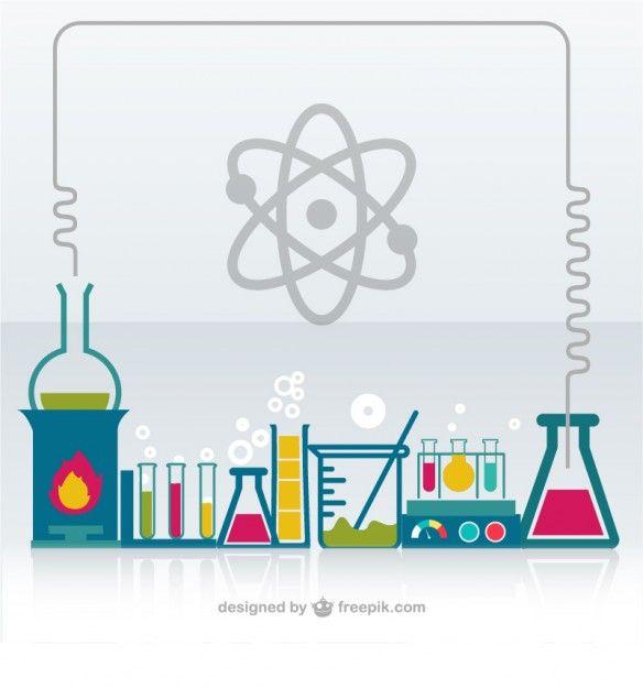Vetor laboratório de química Vetor grátis