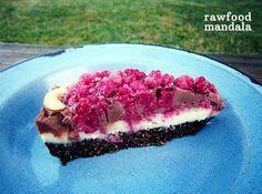 RAW malinový dort ~ rawfood mandala