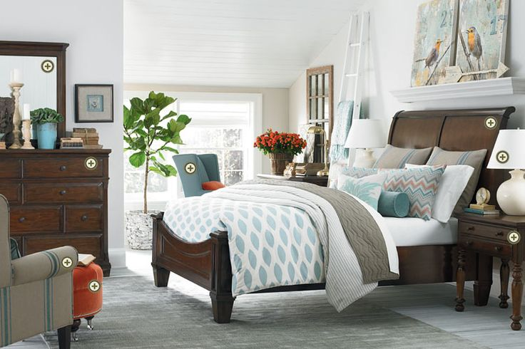Sleigh Bed And Chest Really Nice Like The Look Would Get Additional Charging Station Side Table