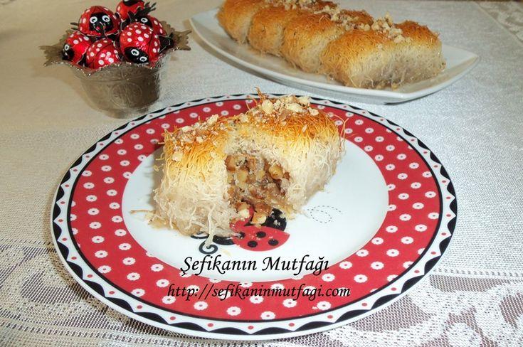 Fırında Kadayıf Dolma Tarifi #TürkMutfağı #kadayıf #şerbetlitatlı #tatlı #tatlıtarifleri #dessert http://sefikaninmutfagi.com/firinda-kadayif-dolma-tarifi/