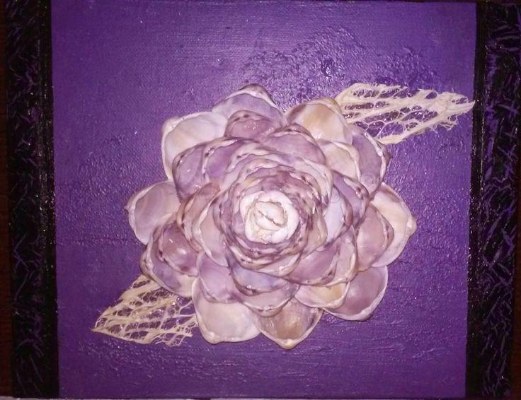 Decoración con conchas de mar: Cuadros decorados con flor de conchas de mar