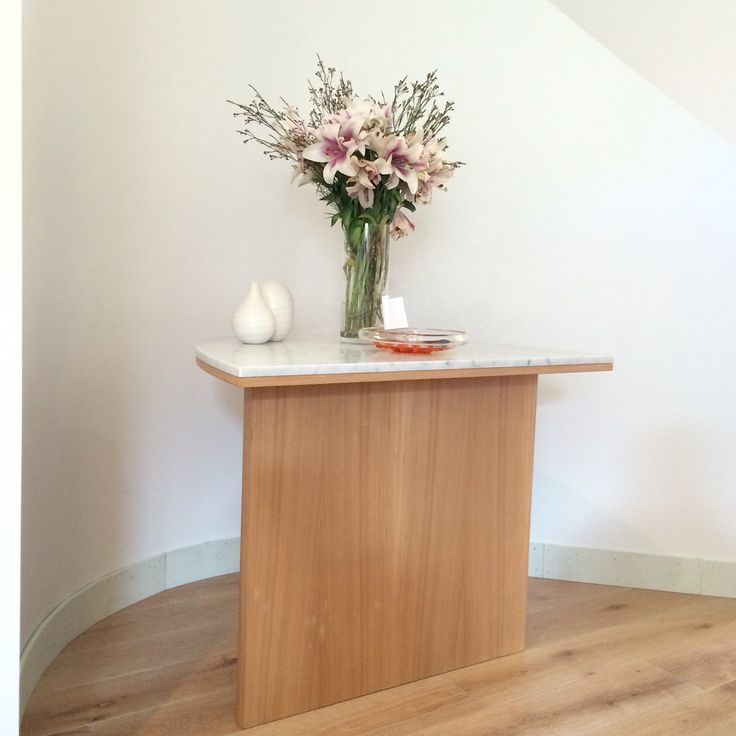 Hall Table with marble tops.