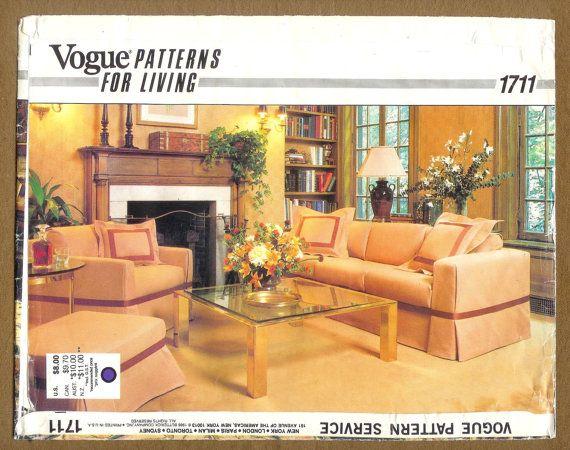Jahrgang 1980 Vogue 1711 von Kissenhüllen für Sofa von lucysbud