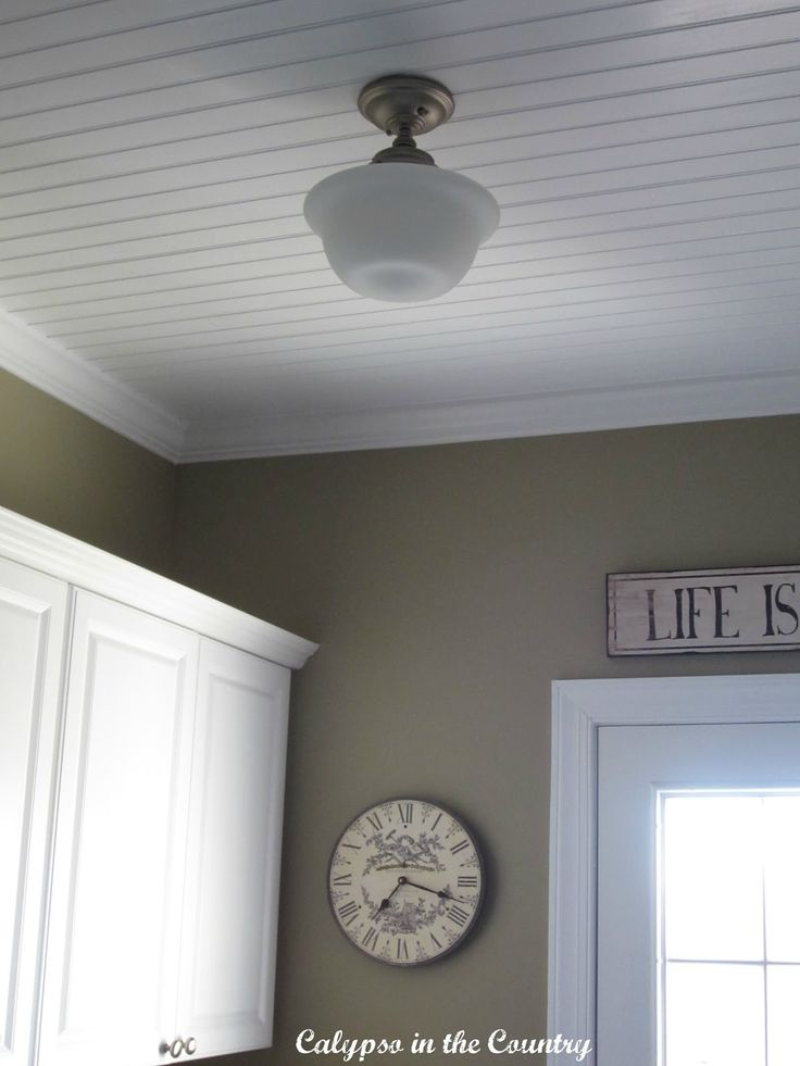 Schoolhouse Light With Beadboard Ceiling Calypso In The