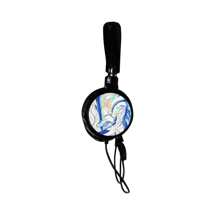 Blue Succulent Colorful Custom Earphone Use code ARTSADD for 30% off and free shipping