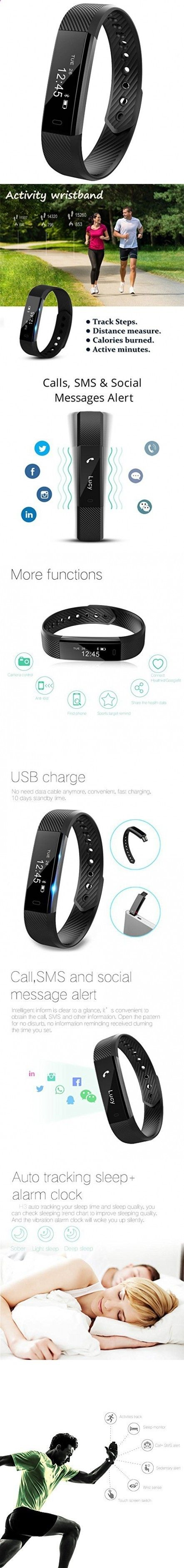 Activity Bracelets Fitness - Activity Bracelets Fitness - Smart Fitness Activity Tracker, 11TT YG3 Sport Bracelet Wristband Pedometer Touch Screen with Step Tracker/Calorie Counter/Sleep Monitor/Call Notification Push for iPhone iOS and Android Phone (Black) - The benefits of wearing these smart bracelets are not only in your comfort, but also in that they are able to control all your physical progress - The benefits of wearing these smart bracelets are not only in your comfort, but al...