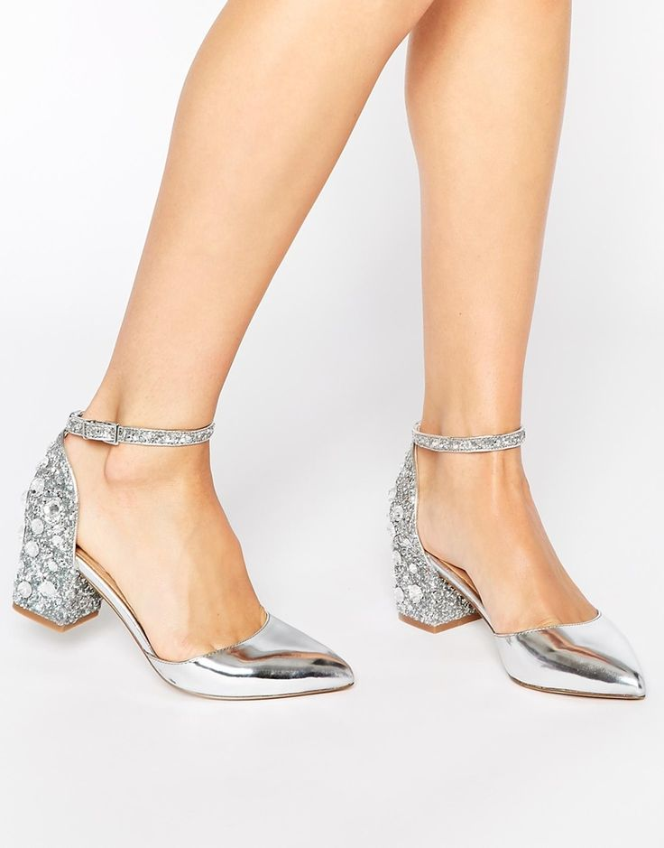 ASOS shooting star silver glitter heels - these will obvs go with everything