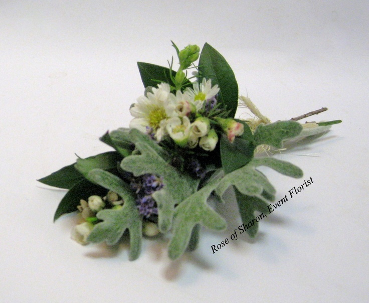 Boutonniere Corsage Inspiration With Dusty Miller
