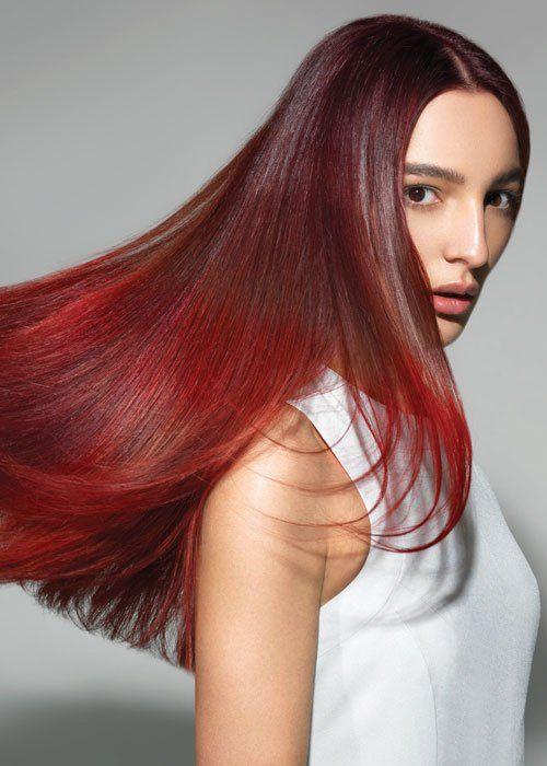 Haarfarben: Ombré Rot; Foto: L'Oréal Professionnel
