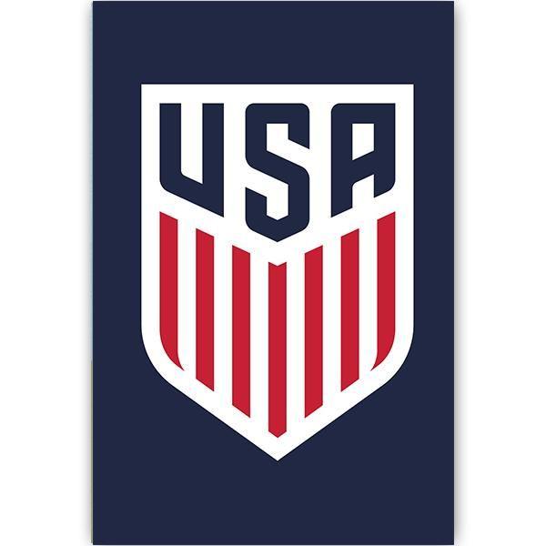 Us Soccer Crest Poster Navy Us Soccer Soccer Logo Soccer