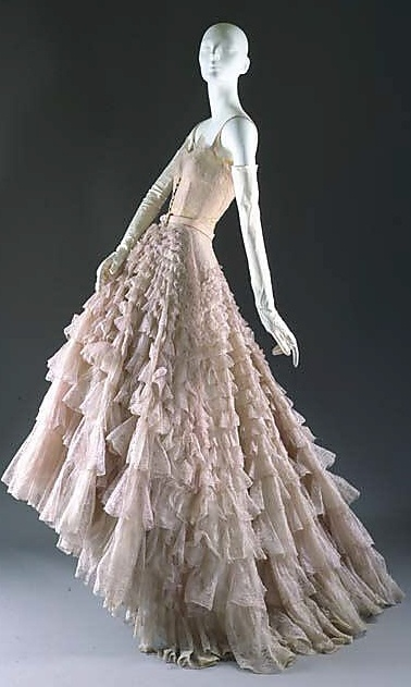"""""""Eugénie"""" House of Dior (French, founded 1947) Date: fall/winter 1948–49"""