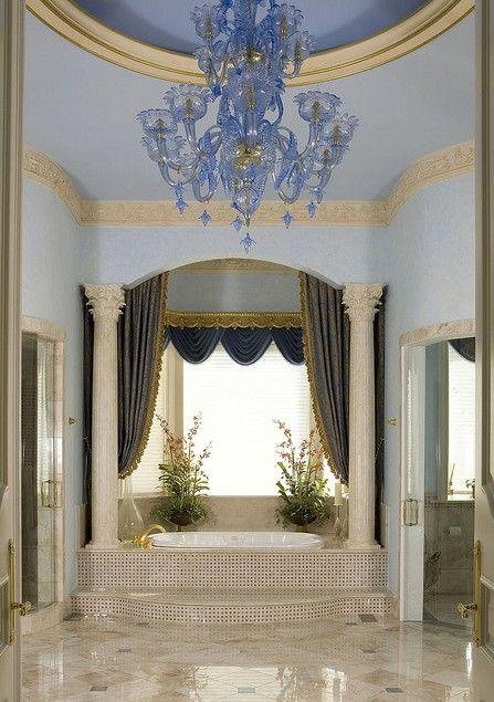 Master bath design by Haleh Design