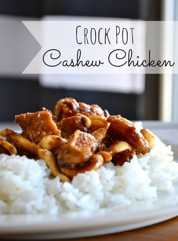 Crock Pot Cashew Chicken *flour, oil, honey, soy sauce, rice wine vinegar, brown sugar, garlic, ginger, red pepper flakes, cashews