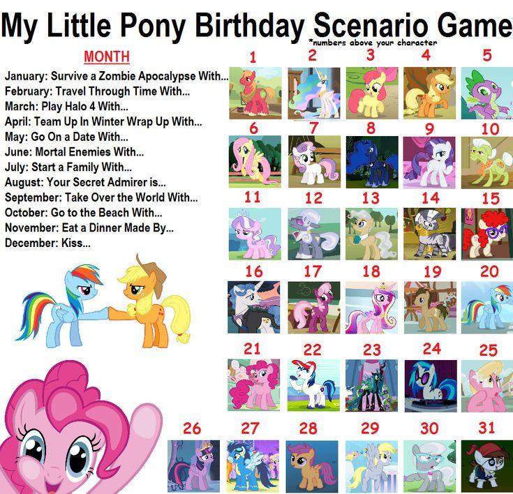 One Piece Birthday Scenario Game: My Little Pony Birthday Scenario