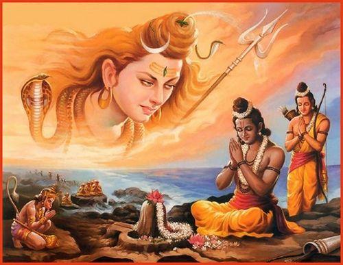 Lord shiva and lord rama  Learn Jyotish Vidya