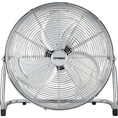 Optimus 12 inch Industrial Grade High Velocity Fan - Chrome Grill, Multicolor