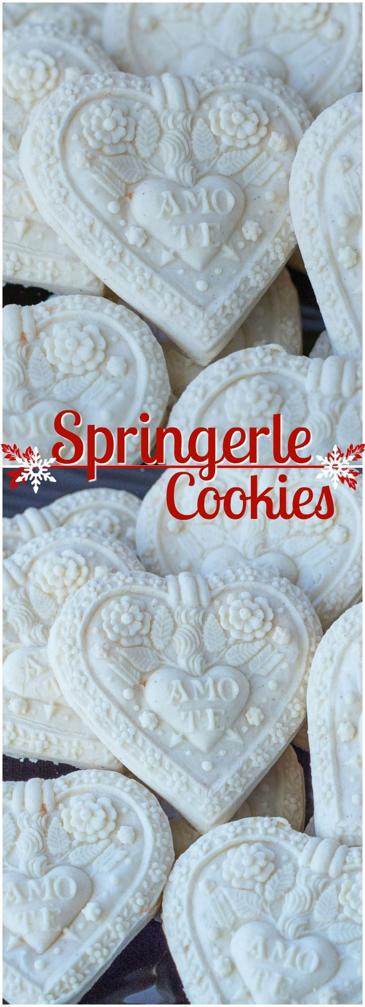 Terrific recipe for beautiful Springerle Cookies. Exquisite cookies that look like pieces of art on the plate.