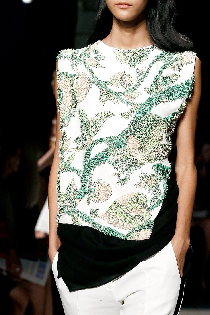 Beaded Nature - exquisitely embellished top; fashion details // Narciso Rodriguez