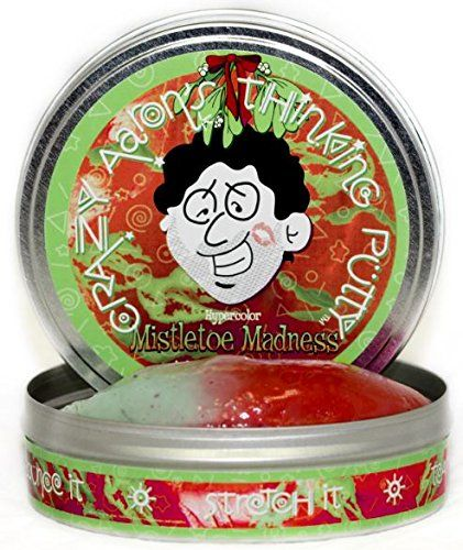 Crazy Aaron's Thinking Putty - Mistletoe Madness for Holidays