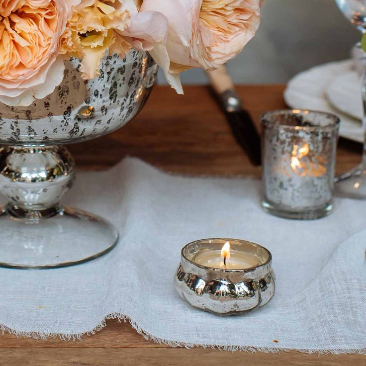 Best glass tea light holders ideas on pinterest