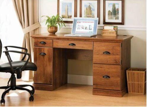 New Oak Finished Vintage Desk Home Office Executive Furni Https