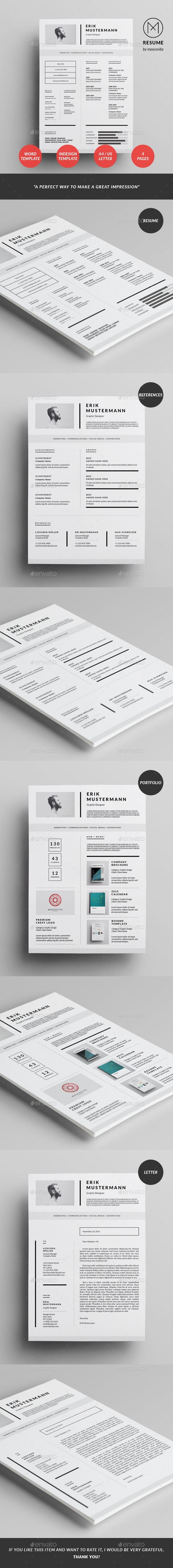 Template For A Resume In Word%0A The Clean Resume Template is a very clean and professional way to make a  great impression  You can present the relevant information combining  simplicity and