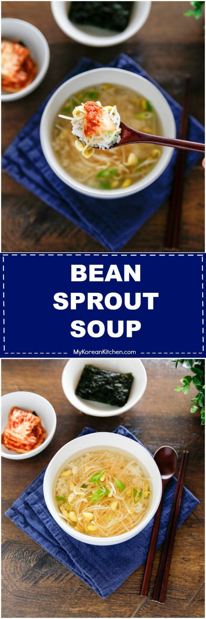 How to make Korean bean sprout soup. It's a popular hangover soup! | MyKoreanKitchen.com