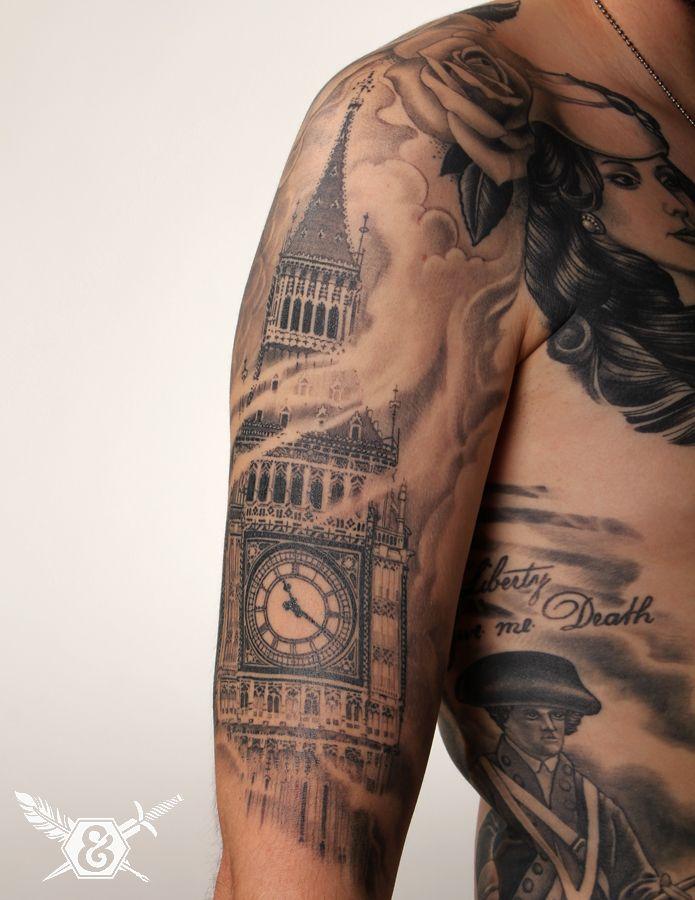 best 25 big ben tattoo ideas on pinterest skyline tattoo cincinnati tattoo and london tattoo. Black Bedroom Furniture Sets. Home Design Ideas