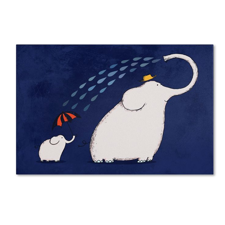Carla Martell 'Umbrella Elephant' Art