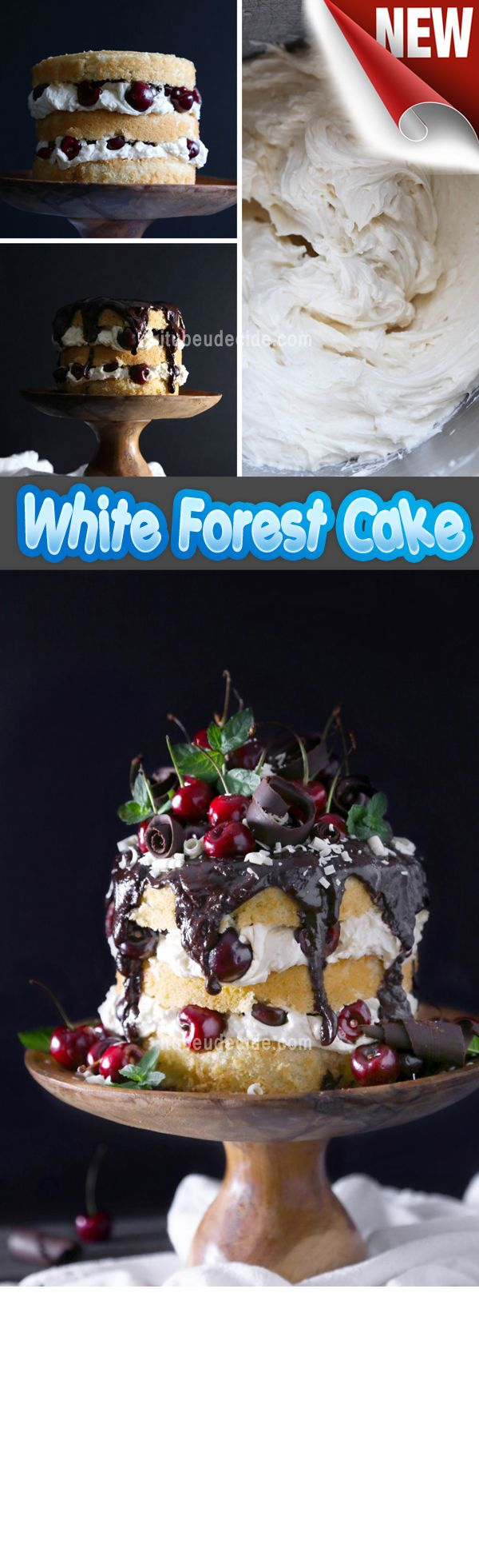 White Forest Cake Recipe