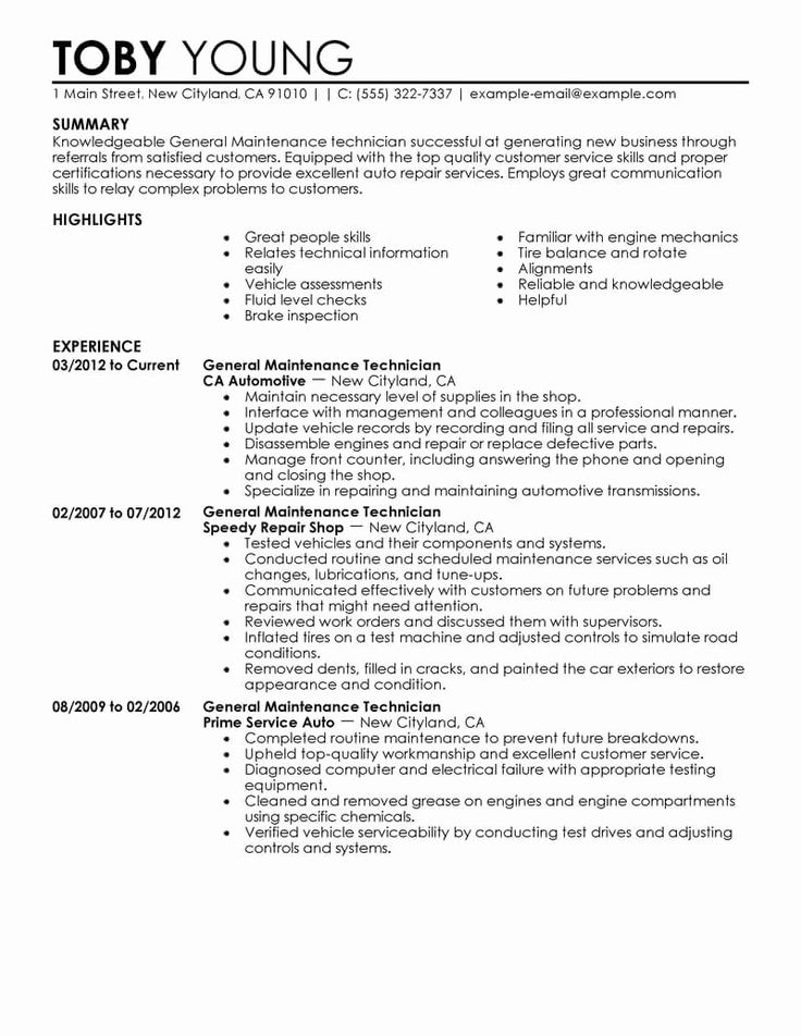 Maintenance Job Description Resume Lovely Best General