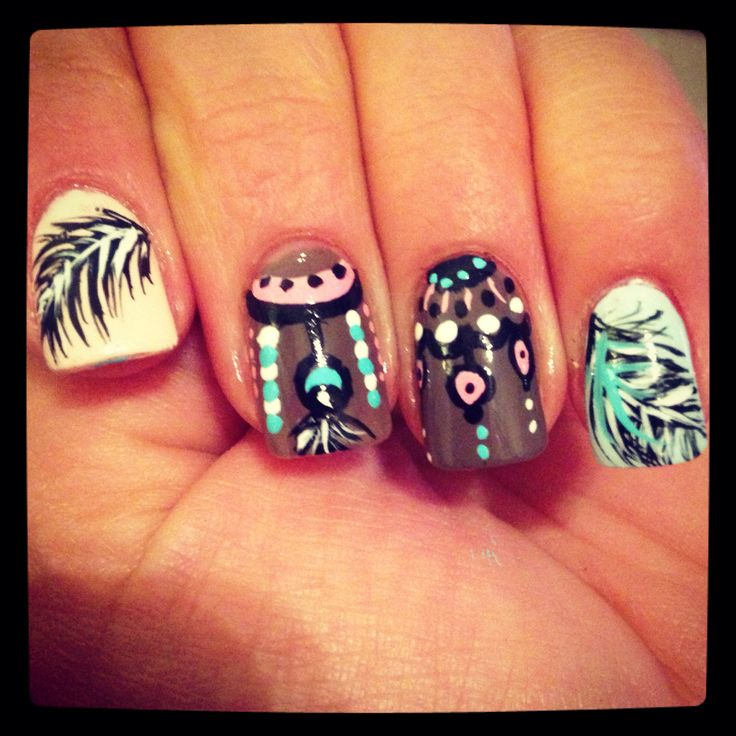 Indian nail design