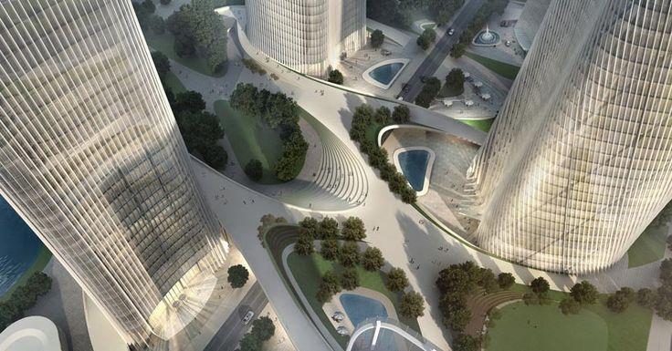 henn architekten: new central business district, wenzhou