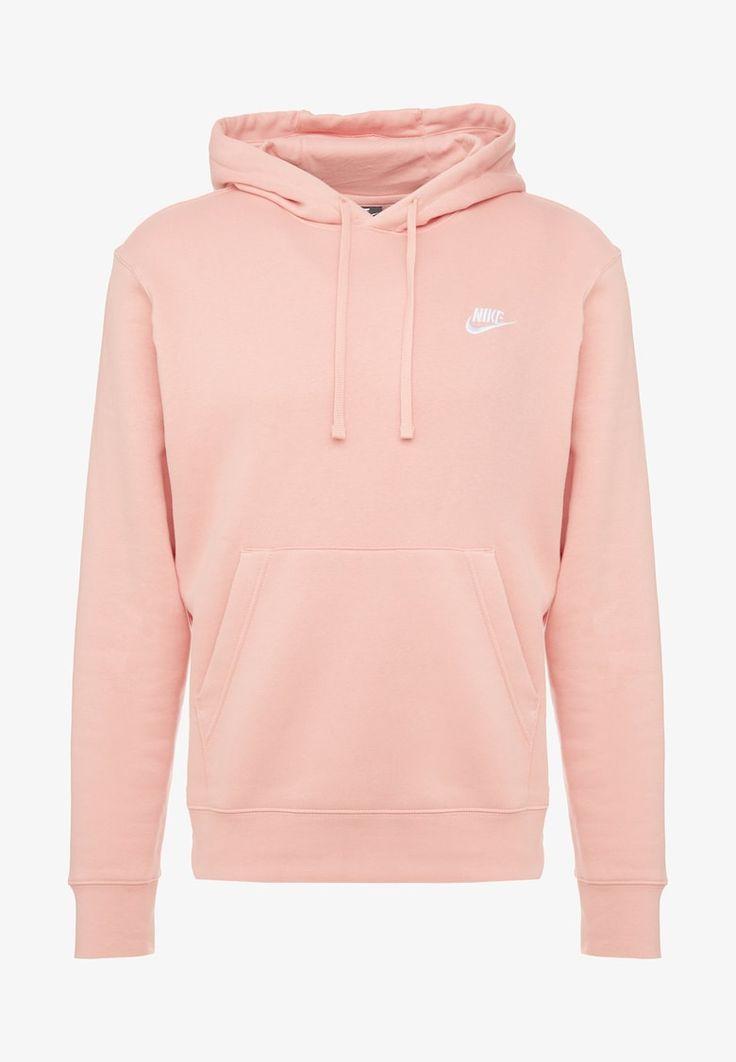 nike sportswear club hoodie pink quartz white zalando nl