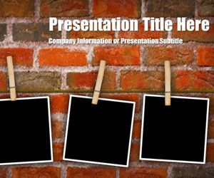 46 best ppt templates images on pinterest microsoft powerpoint free peg brick powerpoint template is another original slide design with a bricks wall design in toneelgroepblik Images