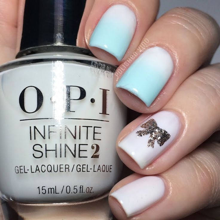 Preen.Me VIP Chrissy adds a sweet and dainty gradient finish to her nails using her gifted OPI #InfiniteShine 2 Icons Nail Lacquer in Funny Bunny. Click through to check out this classic, soft-white shade.