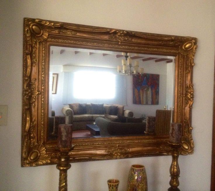 Espejo biselado vintage antiguo neoclasico estilo versace for Espejos de pared vintage