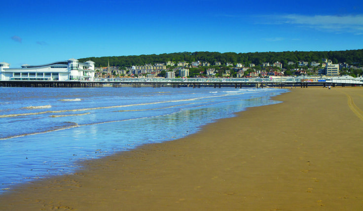 Tranquil beach at Weston Super Mare